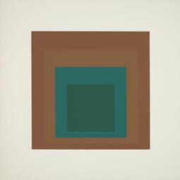Reserved, plate nine from Homage to the Square: Ten Works by Josef Albers