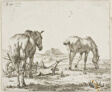 Two Horses by a Plough