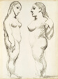 Two Nudes, Standing