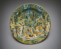 Plate with Moses Striking the Rock