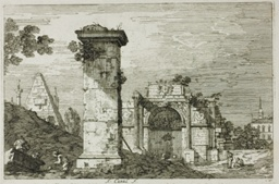 Landscape with Ruined Monuments, from Vedute