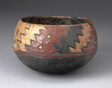 Bowl with Thickly-Painted Polychrome Zigzag Motif