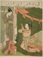 Courtesan Burning Mosquitoes as Her Guest Arrives