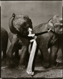Dovima with Elephants, Evening Dress by Dior, Cirque d'Hiver, Paris