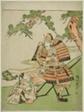 The Warrior Kusunoki Masashige (1294-1336) Bidding Farewell to His Son Masatsura