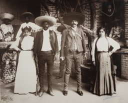 Emiliano and Eufemio Zapata with their Wives