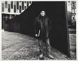 Richard Serra Standing Beside His Tilted Arc