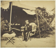 Officers Seated at a Tent, Camp de Châlons
