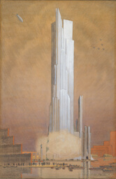 Century of Progress Exposition Tower of Water and Light, Chicago, Illinois, Final Design