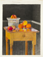 Table with Peaches