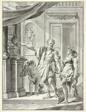 A Man Leading a Woman into a Gallery of Antiquities and Decorative Arts