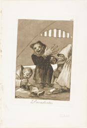 Hobgoblins, plate 49 from Los Caprichos