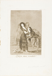 Which of Them is the More Overcome?, plate 27 from Los Caprichos