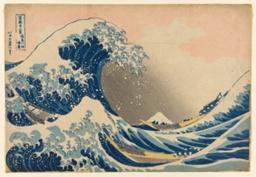 "Under the Wave off Kanagawa (Kanagawa oki nami ura), also known as the Great Wave, from the series ""Thirty-six Views of Mount Fuji (Fugaku sanjurokkei)"""