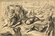 Coney Island Beach with Couples Embracing (recto); Couple Embracing on Coney Island Beach (verso)