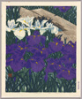 "Iris (Shobu), No. 2 from the series ""Flowers of Japan Series (Nihon no hana rensaku)"""