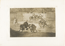 Pepe Illo making the pass of the 'recorte', plate 29 from The Art of Bullfighting