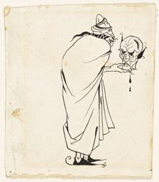 Man with Skull