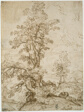 Landscape with Man Sleeping beneath Tree (recto); Landscape with a Horseman (verso)