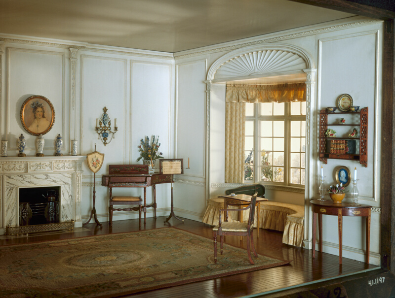 E 12 English Drawing Room Of The Georgian Period C 1800