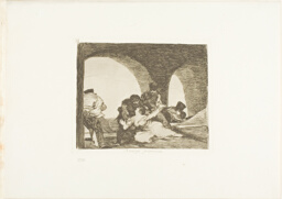 Bitter to be Present, plate 13 from The Disasters of War