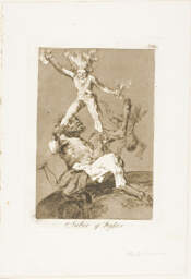 To Rise and to Fall, plate 56 from Los Caprichos