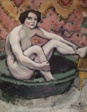 Nude Seated in a Bathtub